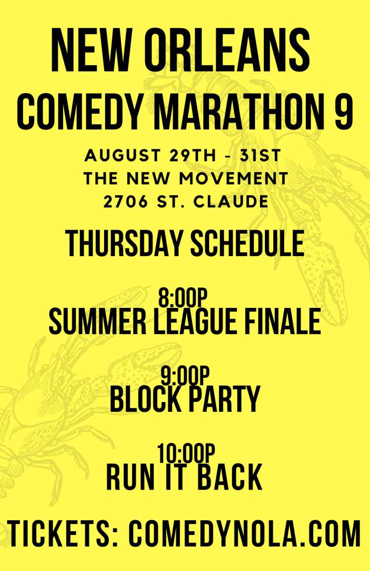 Copy of Copy of Copy of the 9th annual new orleans comedy marathon