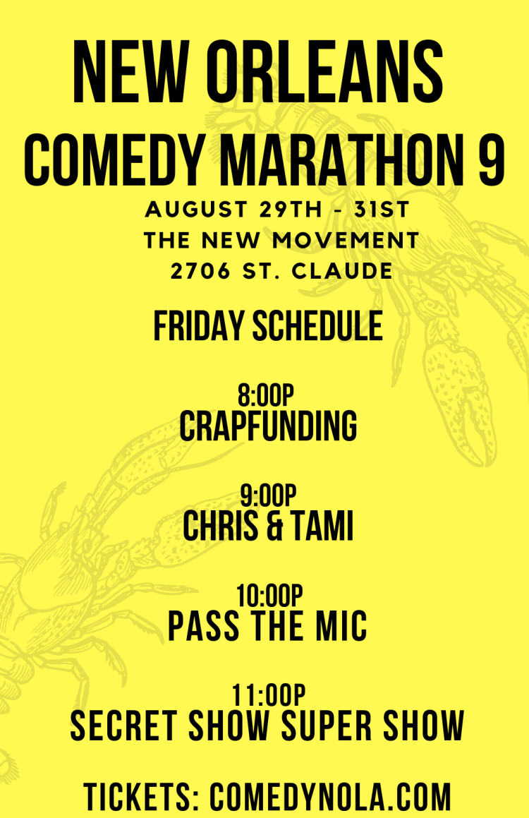 Copy of Copy of Copy of the 9th annual new orleans comedy marathon (1)