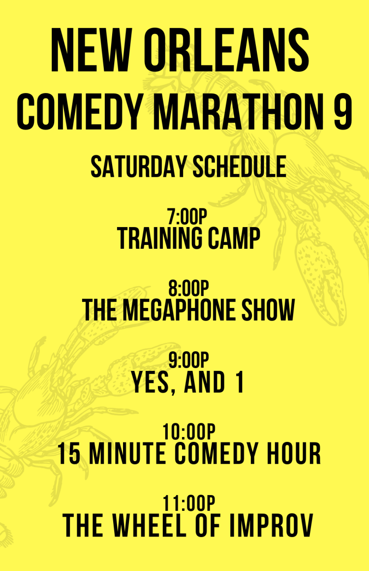 Copy of Copy of Copy of Copy of the 9th annual new orleans comedy marathon